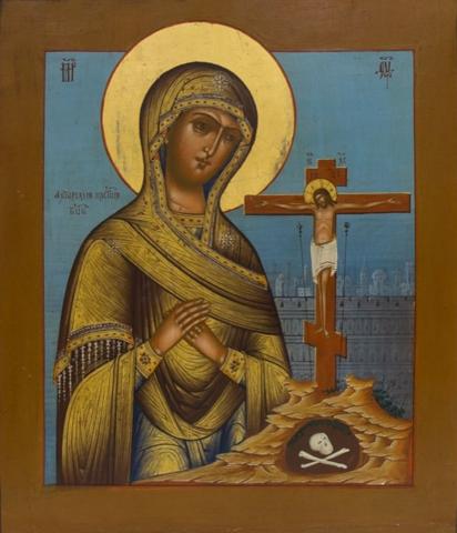 Икона Божией Матери Ахтырская на дереве на левкасе мастерская Иконный Дом