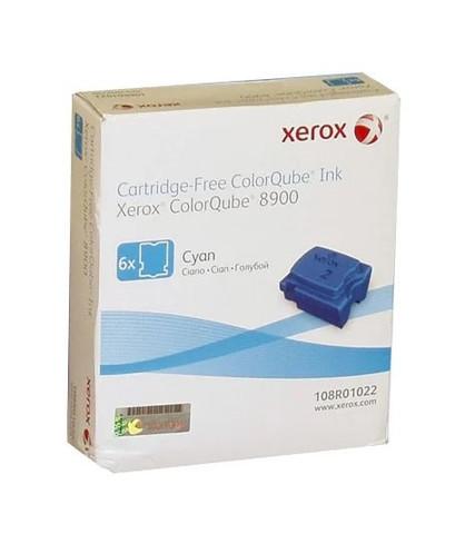 Оригинальный набор картриджей (твердые чернила) Xerox 108R01022, голубые 6 шт.