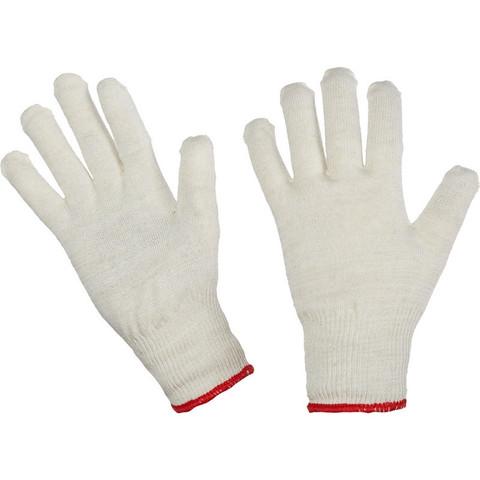 Перчатки рабочие трикотажные 13 класс 38 г (10 пар в упаковке, ручной оверлок)