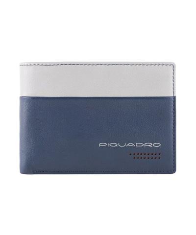Кошелек Piquadro Urban, синий/серый, 13x9,5x2 см
