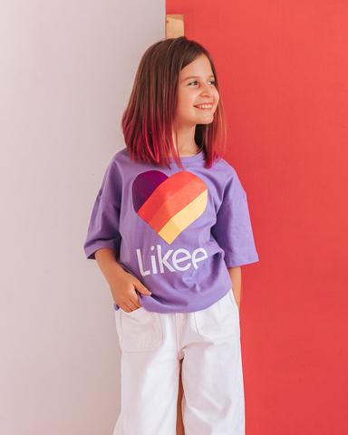 Футболка ЛАЙК, цвет фиолет