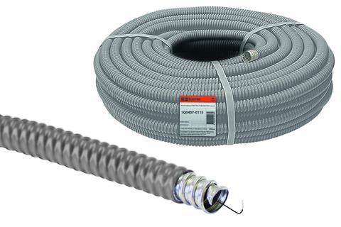 Металлорукав в ПВХ-изоляции РЗ-Ц-П 20 серый с протяжкой (25м) TDM