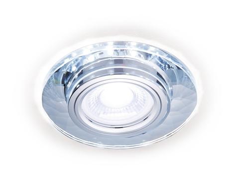 Встраиваемый точечный светильник со светодиодной лентой S211 CL/WH хром/прозрачный MR16+3W(LED WHITE 4200K)