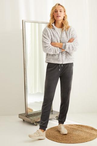 Сірі штани з еластичного оксамиту Super Comfort