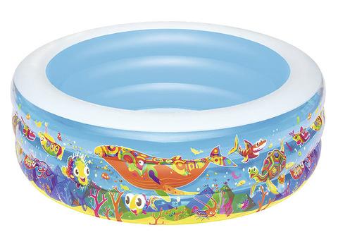 Бассейн детский надувной круглый Подводный мир 152х51см,400л 51121