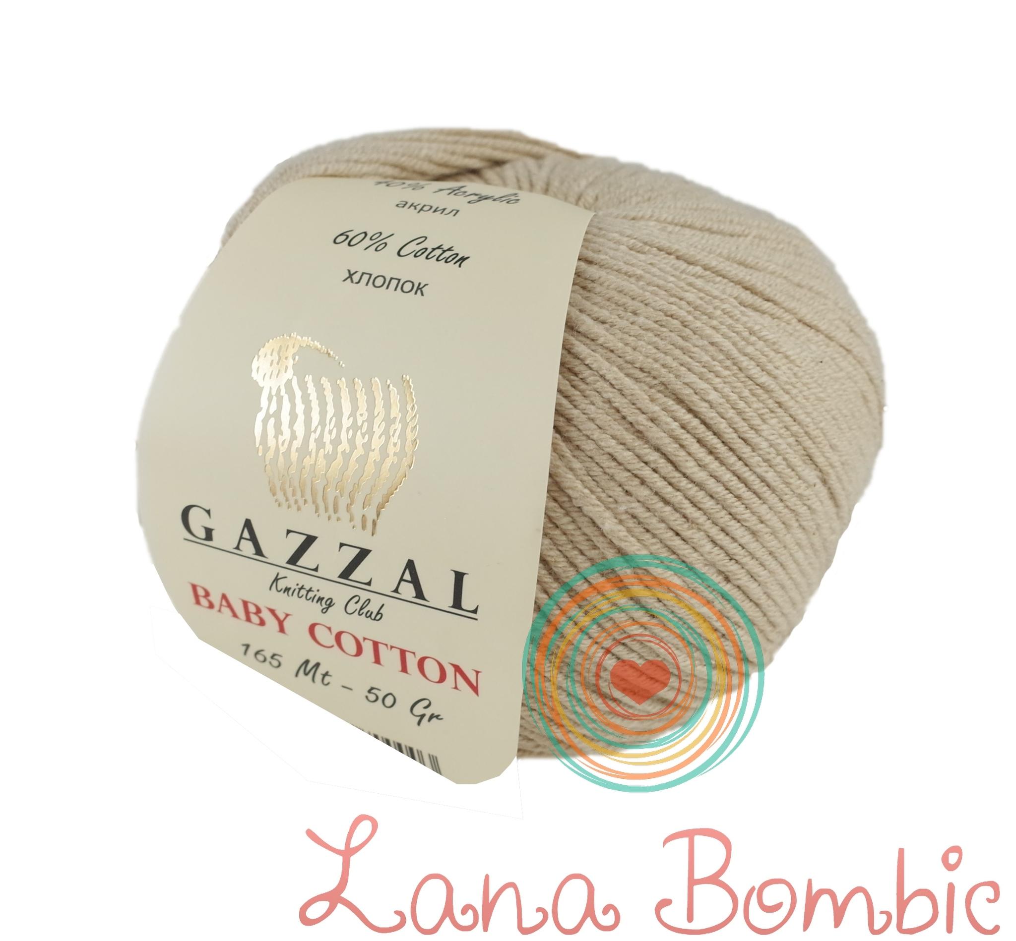 Пряжа Gazzal Baby Cotton 3446 слоновая кость