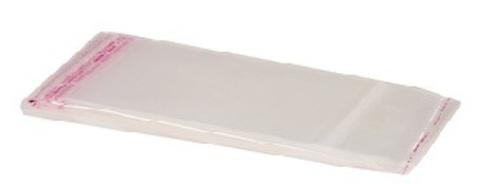 Пакет бопп прозрачный с клеевым клапаном (25) 11х21 см БОПП, клапан 30 мм со скотчем