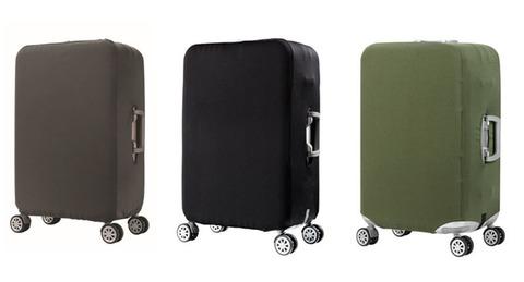 Чехол для чемодана серый размер L