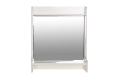 Полка Ливерпуль 10.118 с зеркалом Моби белый