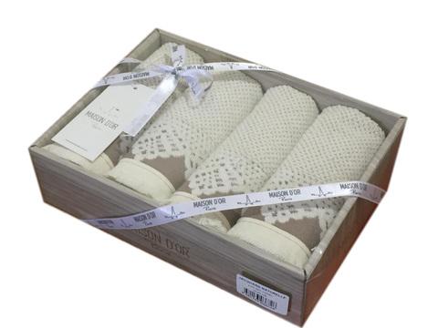 Подарочный набор махровых салфеток Жаккард Натурель