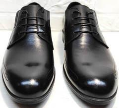 Красивые туфли мужские свадебные Ikoc 3416-1 Black Leather.