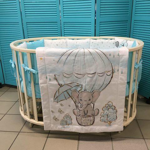 Комплект в круглую/овальную кроватку 16 предметов