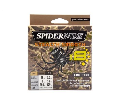 Плетеная леска Spiderwire Stealth Smooth 8 Braid Камуфляжная 150 м. 0.09 мм. 7.5 кг. (1515748)