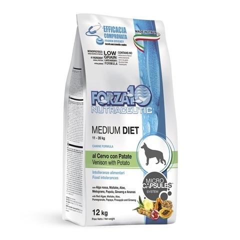 купить FORZA10 LineDIET DOG Adult Medium Diet Cervo форза10 сухой корм для собак средних пород с олениной 12кг