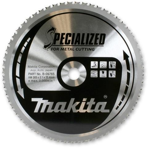 Диск Makita по стали 305*25,4*2,1 мм/60T, 0°, TCG