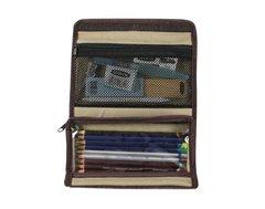 Пенал для карандашей 115х200х20мм, ткань, пустой
