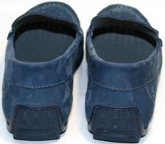 Кожаные мужские мокасины IKOC 1352-2 Blue.