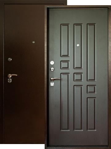 Дверь входная Форт  Т-41, 2 замка, 1,8 мм  металл, (медь антик+венге)