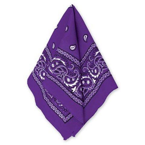 Бандана с рис фиолетовая 50х50см/А
