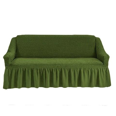 Чехол на 3-х местный диван зеленый.