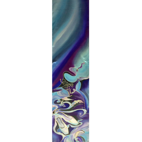 Шелковый шарф батик Легкость Балета С-57