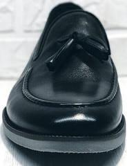 Модные мужские лоферы с кисточками Luciano Bellini 91178-E-212 Black.