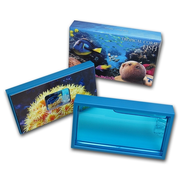 """1 доллар """"Голубой хирург"""". Тропические рыбы. 2013 г. в аквариуме"""