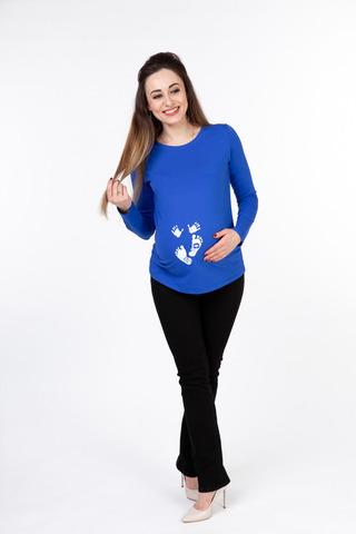 Лонгслив для беременных 10049 синий