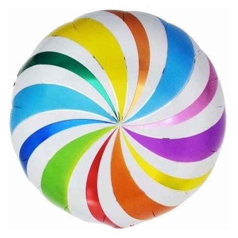 Шар круг Разноцветный леденец, 45 см