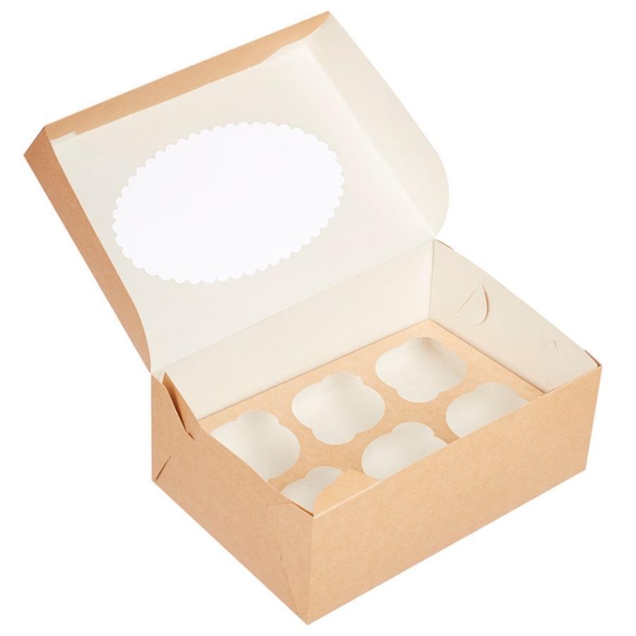 Коробка на 6 капкейков c окном