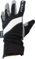 Перчатки лыжные с липучкой Ski Team K18003BW черно/белые - 2