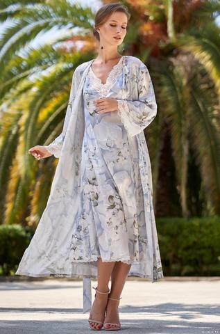 Длинный халат на пуговицах  Mia-Amore  NOVELLA  НОВЕЛЛА 3609