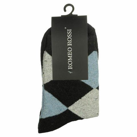 Мужские носки темно-синие ROMEO ROSSI с шерстью 8046-9