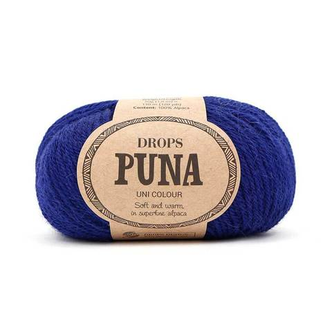 Пряжа Drops Puna 13 темно-синий