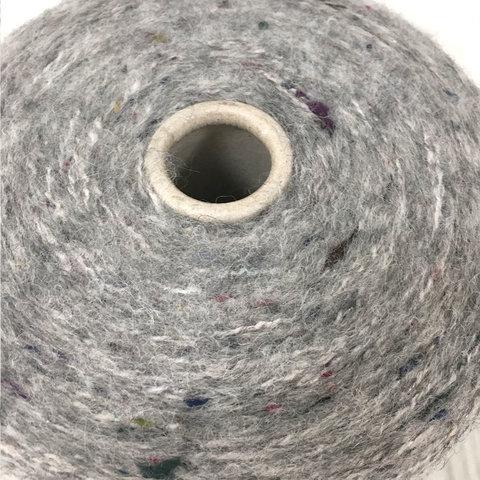 Смесовка с альпакой и мериносом  ECAFIL METAL TWEED  240 cерый
