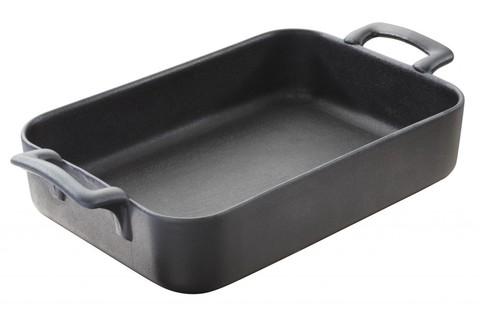 Прямоугольное фарфоровое блюдо для запекания черное, артикул 642072, серия Belle Cuisine