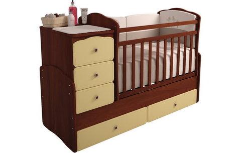 Кровать детская Фея 2150 орех-лимонный