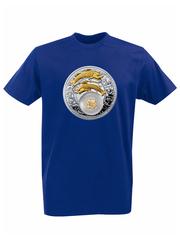 Футболка с принтом Знаки Зодиака, Рыбы (Гороскоп, horoscope) синяя 004
