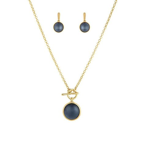 Комплект Pearl Black Agate S1560.4 BW/G
