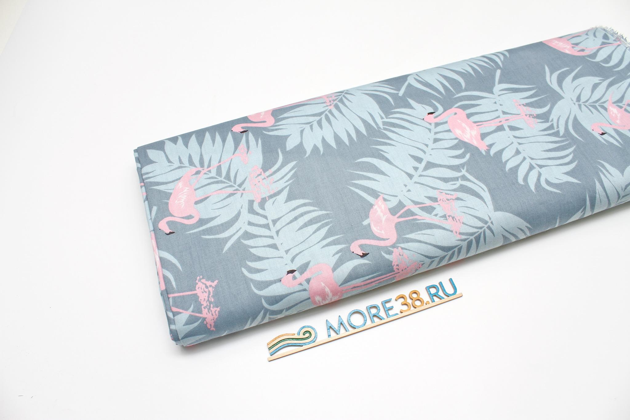 Фламинго на пыльно-сером, 160см