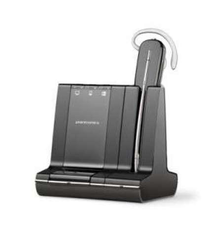 Plantronics Savi (Convertible) W740M,  — беспроводная (DECT) система для компьютера, мобильного и стационарного телефона,
