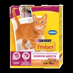 Friskies Сухой корм для кошек для вывода шерсти с Kурицей с добавлением овощей