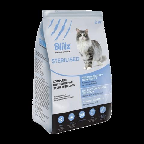 Blitz Сухой корм для стерилизованных кошек