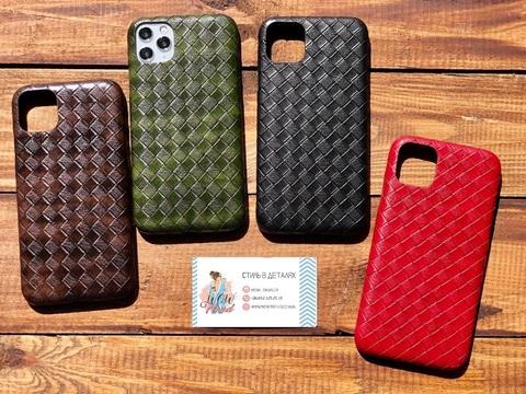Чехол iPhone X/XS Leather Bottega case