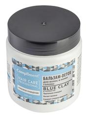 Compliment BLUE СLAY and Coconut oil  Глубокое очищение Бальзам-DETOX для волос и кожи головы