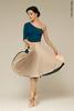 Two-sided rehearsal skirt | milky_white-bottle_green