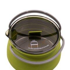 Чайник Tramp складной силиконовый 1л., оливковый - 2