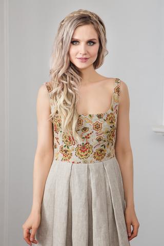 Платье Иванка c хохломой
