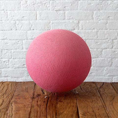 Хлопковый светильник розовый