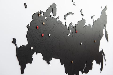 КАРТА РОССИИ ЧЕРНАЯ 98 x 53 cm